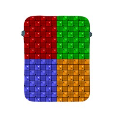 Number Plaid Colour Alphabet Red Green Purple Orange Apple iPad 2/3/4 Protective Soft Cases