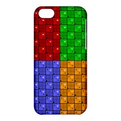 Number Plaid Colour Alphabet Red Green Purple Orange Apple iPhone 5C Hardshell Case
