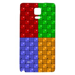 Number Plaid Colour Alphabet Red Green Purple Orange Galaxy Note 4 Back Case