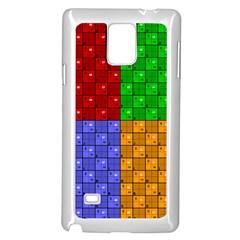 Number Plaid Colour Alphabet Red Green Purple Orange Samsung Galaxy Note 4 Case (White)