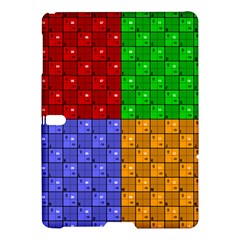 Number Plaid Colour Alphabet Red Green Purple Orange Samsung Galaxy Tab S (10.5 ) Hardshell Case