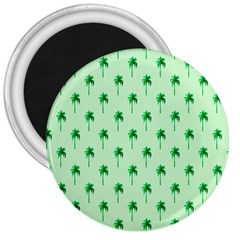 Palm Tree Coconoute Green Sea 3  Magnets