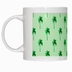 Palm Tree Coconoute Green Sea White Mugs