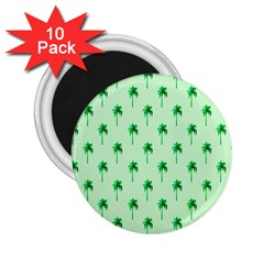 Palm Tree Coconoute Green Sea 2.25  Magnets (10 pack)
