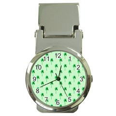 Palm Tree Coconoute Green Sea Money Clip Watches