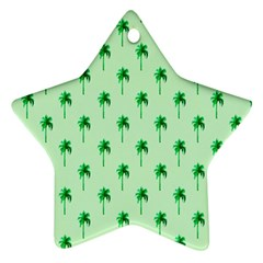 Palm Tree Coconoute Green Sea Star Ornament (Two Sides)