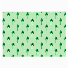 Palm Tree Coconoute Green Sea Large Glasses Cloth