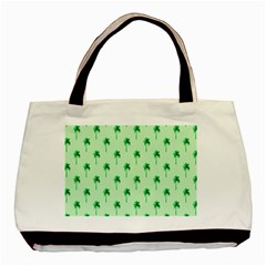 Palm Tree Coconoute Green Sea Basic Tote Bag (Two Sides)