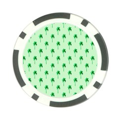 Palm Tree Coconoute Green Sea Poker Chip Card Guard (10 pack)