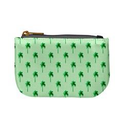 Palm Tree Coconoute Green Sea Mini Coin Purses