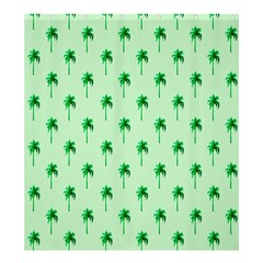 Palm Tree Coconoute Green Sea Shower Curtain 66  x 72  (Large)