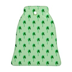 Palm Tree Coconoute Green Sea Bell Ornament (Two Sides)