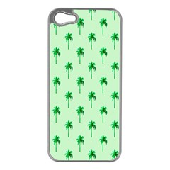 Palm Tree Coconoute Green Sea Apple iPhone 5 Case (Silver)