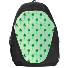 Palm Tree Coconoute Green Sea Backpack Bag