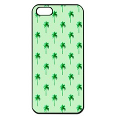 Palm Tree Coconoute Green Sea Apple iPhone 5 Seamless Case (Black)