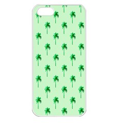 Palm Tree Coconoute Green Sea Apple iPhone 5 Seamless Case (White)