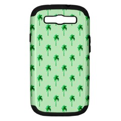 Palm Tree Coconoute Green Sea Samsung Galaxy S III Hardshell Case (PC+Silicone)