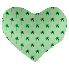 Palm Tree Coconoute Green Sea Large 19  Premium Heart Shape Cushions