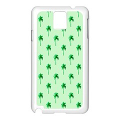 Palm Tree Coconoute Green Sea Samsung Galaxy Note 3 N9005 Case (White)