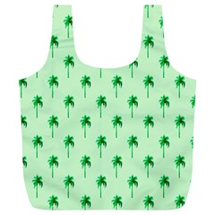 Palm Tree Coconoute Green Sea Full Print Recycle Bags (L)