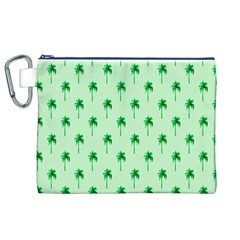 Palm Tree Coconoute Green Sea Canvas Cosmetic Bag (XL)