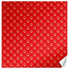 Paw Print Background Wallpaper Cute Paw Print Background Footprint Red Animals Canvas 12  x 12