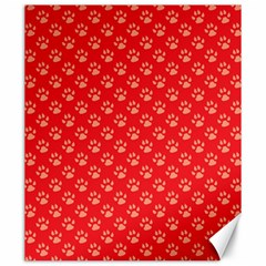 Paw Print Background Wallpaper Cute Paw Print Background Footprint Red Animals Canvas 20  x 24