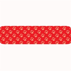 Paw Print Background Wallpaper Cute Paw Print Background Footprint Red Animals Large Bar Mats