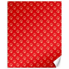 Paw Print Background Wallpaper Cute Paw Print Background Footprint Red Animals Canvas 11  x 14
