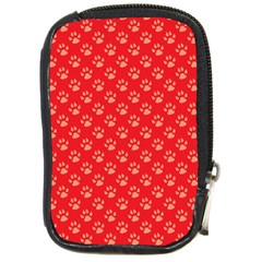 Paw Print Background Wallpaper Cute Paw Print Background Footprint Red Animals Compact Camera Cases