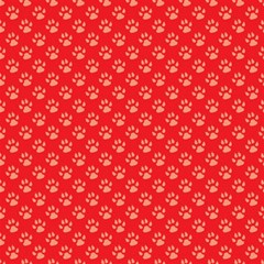 Paw Print Background Wallpaper Cute Paw Print Background Footprint Red Animals Magic Photo Cubes