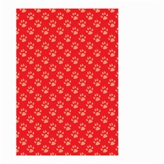 Paw Print Background Wallpaper Cute Paw Print Background Footprint Red Animals Small Garden Flag (Two Sides)