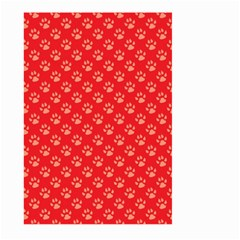 Paw Print Background Wallpaper Cute Paw Print Background Footprint Red Animals Large Garden Flag (Two Sides)