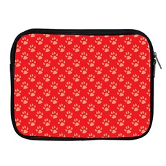 Paw Print Background Wallpaper Cute Paw Print Background Footprint Red Animals Apple iPad 2/3/4 Zipper Cases