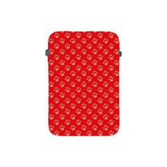 Paw Print Background Wallpaper Cute Paw Print Background Footprint Red Animals Apple iPad Mini Protective Soft Cases