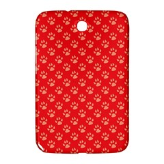 Paw Print Background Wallpaper Cute Paw Print Background Footprint Red Animals Samsung Galaxy Note 8.0 N5100 Hardshell Case