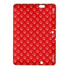 Paw Print Background Wallpaper Cute Paw Print Background Footprint Red Animals Kindle Fire HDX 8.9  Hardshell Case