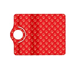Paw Print Background Wallpaper Cute Paw Print Background Footprint Red Animals Kindle Fire HD (2013) Flip 360 Case