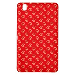 Paw Print Background Wallpaper Cute Paw Print Background Footprint Red Animals Samsung Galaxy Tab Pro 8.4 Hardshell Case