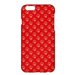 Paw Print Background Wallpaper Cute Paw Print Background Footprint Red Animals Apple iPhone 6 Plus/6S Plus Hardshell Case