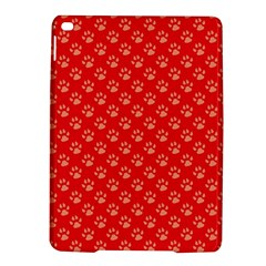 Paw Print Background Wallpaper Cute Paw Print Background Footprint Red Animals iPad Air 2 Hardshell Cases