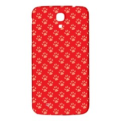 Paw Print Background Wallpaper Cute Paw Print Background Footprint Red Animals Samsung Galaxy Mega I9200 Hardshell Back Case