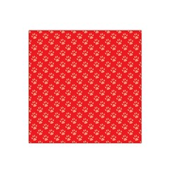 Paw Print Background Wallpaper Cute Paw Print Background Footprint Red Animals Satin Bandana Scarf