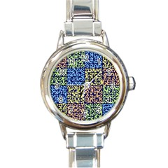Puzzle Color Round Italian Charm Watch