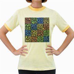 Puzzle Color Women s Fitted Ringer T-Shirts
