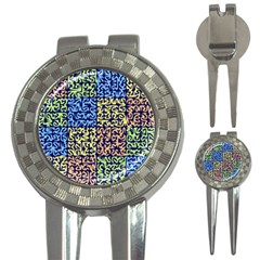 Puzzle Color 3-in-1 Golf Divots