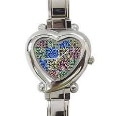Puzzle Color Heart Italian Charm Watch