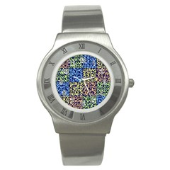 Puzzle Color Stainless Steel Watch