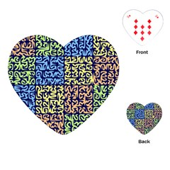 Puzzle Color Playing Cards (Heart)