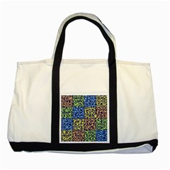 Puzzle Color Two Tone Tote Bag
